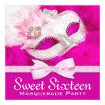 Fiesta bonito de la mascarada de las rosas fuertes invitacion personal