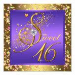Fiesta bonito del dulce dieciséis de la púrpura y comunicados personalizados