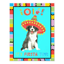 Fiesta Border Collie Invitation