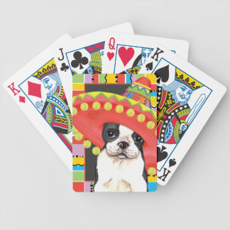 Fiesta Boston Terrier Baraja Cartas De Poker