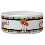 Fiesta Boston Terrier Dog Food Bowls