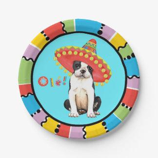 Fiesta Boston Terrier Paper Plate