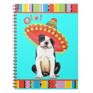Fiesta Boston Terrier Spiral Notebook