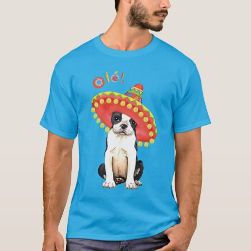 Fiesta Boston Terrier T_Shirt