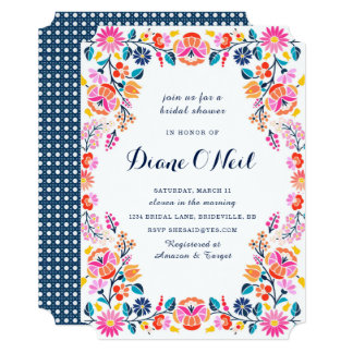 Fiesta Bridal Shower Invitations & Announcements | Zazzle