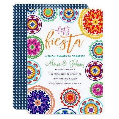 Fiesta Bridal Shower Invite Zazzlecom