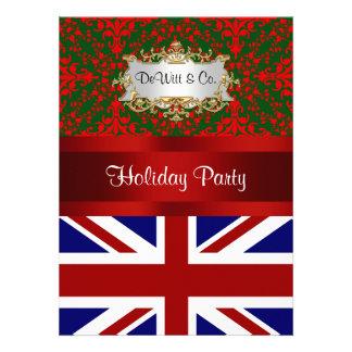 Fiesta BRITÁNICO del damasco 2 V del día de fiesta Invitaciones Personales