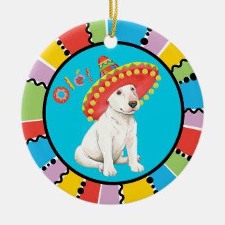 Fiesta Bull Terrier Ceramic Ornament
