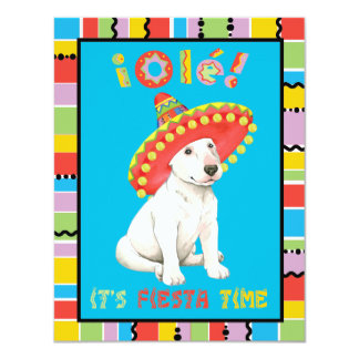 "Fiesta bull terrier invitación 4.25"" x 5.5"""