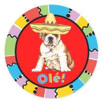Fiesta Bulldog Classic Round Sticker