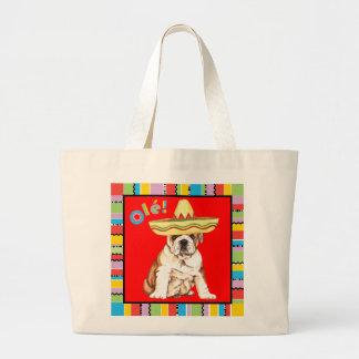 Fiesta Bulldog Large Tote Bag