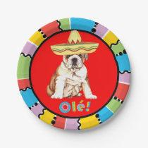 Fiesta Bulldog Paper Plate