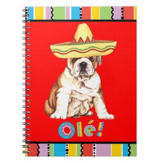 Fiesta Bulldog Spiral Notebook