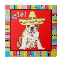 Fiesta Bulldog Tile