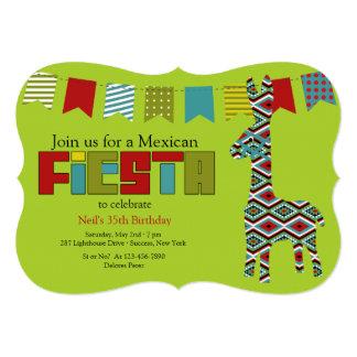 """Fiesta Burro Invitation 5"""" X 7"""" Invitation Card"""