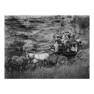 FIESTA C. 1889 del COCHE de TALLYHO Póster