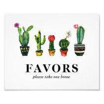 Fiesta Cactus Bridal Shower Favors Photo Print