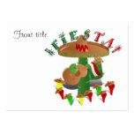 Fiesta Cactus w/Sombrero & Guitar Business Cards