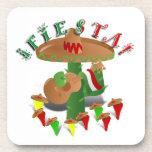 Fiesta Cactus w/Sombrero & Guitar Coaster