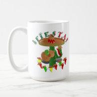 Fiesta Cactus w/Sombrero & Guitar Coffee Mug