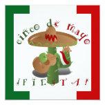 Fiesta Cactus w/Sombrero & Guitar Custom Invitations