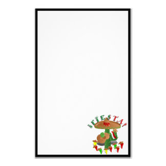 Fiesta Cactus with Guitar & Dancing Peppers Stationery