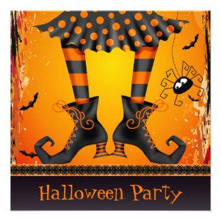 Fiesta caprichoso enrrollado de Halloween de las Invitación