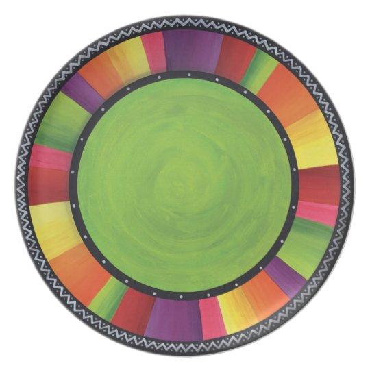 Fiesta Carnival Melamine Plate
