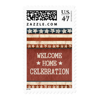 Fiesta casero agradable de los militares sellos postales