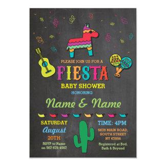 Fiesta Chalk Pinata Couples Parents Baby Shower Card