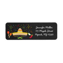 Fiesta Chalkboard Baby Shower Address Label