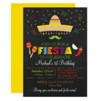 Fiesta Chalkboard Birthday Card