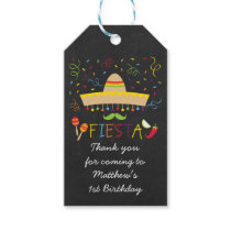 Fiesta Chalkboard Party Favor Tags