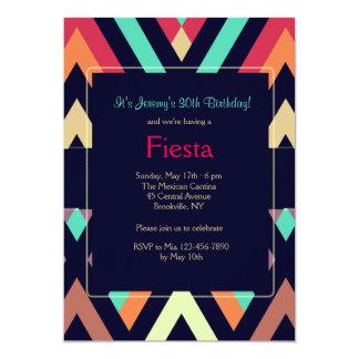 Fiesta Chevron Invitation