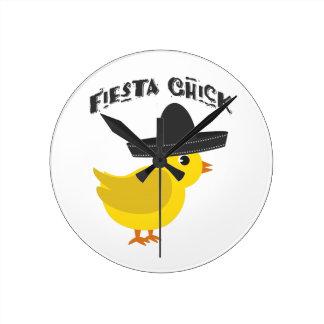 Fiesta Chick Wall Clocks