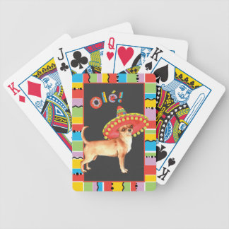 Fiesta Chihuahua Bicycle Playing Cards