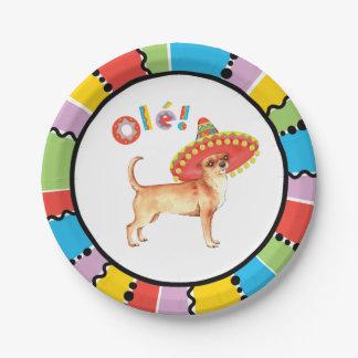 Fiesta Chihuahua Paper Plate