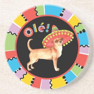 Fiesta Chihuahua Sandstone Coaster