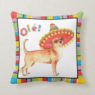 Fiesta Chihuahua Throw Pillow