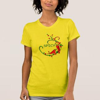 Fiesta Chili Peppers Party Ladies Orange T-shirt