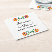 Fiesta Coasters Mexican Lime Drinks Wedding Party