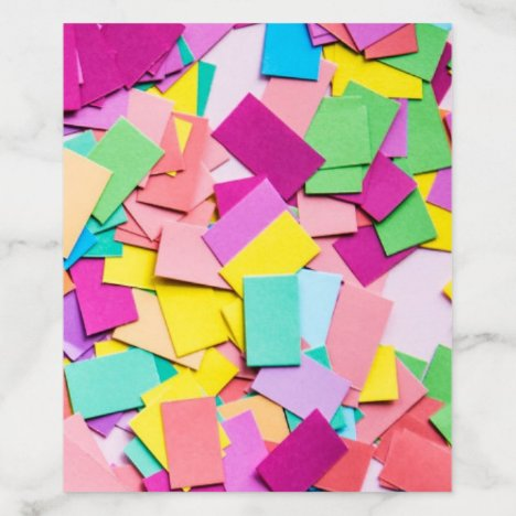 """Fiesta"" - Colorful Confetti Wedding A2 Envelope Liner"