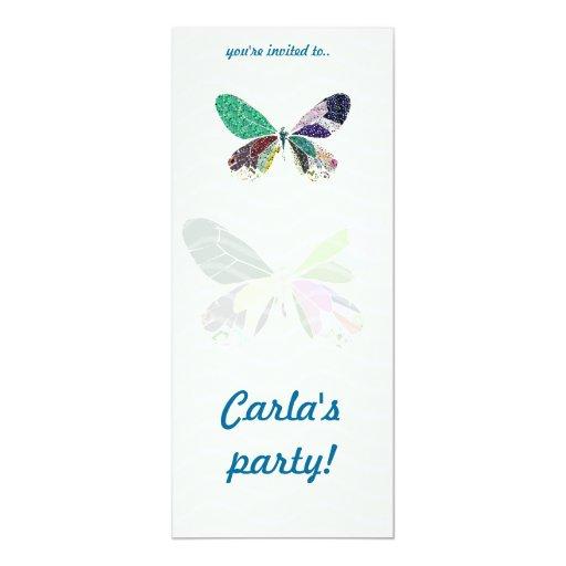 fiesta colorido de la mariposa comunicado personal