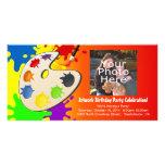 Fiesta colorido del arte del paladar tarjeta fotografica