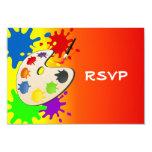 Fiesta colorido del paladar del arte invitación 8,9 x 12,7 cm