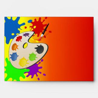 Fiesta colorido del paladar del arte sobre