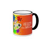 Fiesta colorido del paladar del arte taza de café