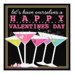 """Fiesta colorido feliz del día de San Valentín de Invitación 5.25"""" X 5.25"""""""