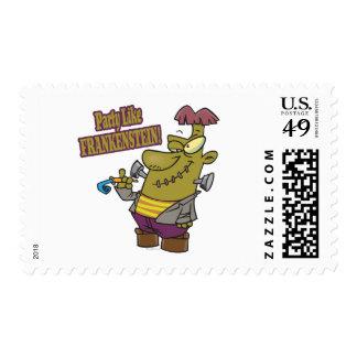 fiesta como dibujo animado del frankenstein sellos