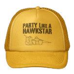 Fiesta como un hawkstar gorras